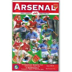 Arsenal v Sampdoria 1994/1995 Football Programme European Cup Winner's Cup