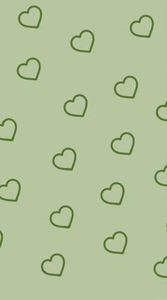 sage green hearts wallpaper