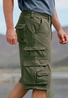 Extra long cargo shorts for tall men. 14