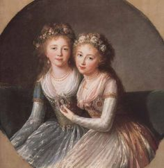 Königlicher Beobachter: Kaiserliche Schwestern: Alexandra Pawlowna & Helena Pawlowna von Rußland