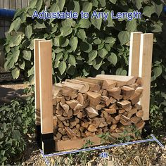 Mofeez Outdoor Firewood Log Storage Rack Bracket Kit ** (paid link) Learn more by visiting the image link.