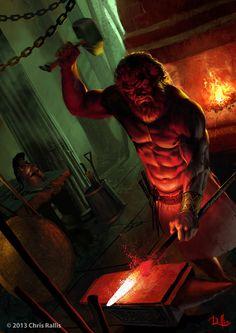 God Hephaestus by ChrisRa.deviantart.com on @deviantART