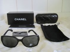 68fd6b0275 Details about Chanel Women s Black Quilted Sunglasses 5289-Q-A C.501 S4