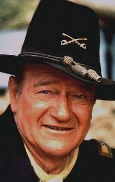"John Wayne, portrait for ""Rio Lobo,"" 1970. Vintage color, 14x11, signed. $700 © 1978 David Sutton MPTV"