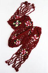 sciarpa con fiori (uncinetto) - crocheted scarf with flowers