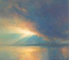 Art by Ken Bushe - Lightstorm  painting