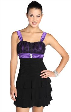party dress with ruffles and lace bodice