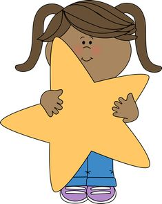 Star Clip Art | an Orange Star Clip Art Image - little boy holding ...