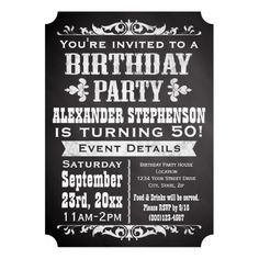 361 Best Vintage Birthday Party Invitations Images