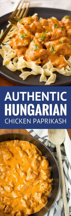 Chicken Paprikash -- an authentic Hungarian chicken paprikash using traditional Hungarian sweet paprika… Also known as Chicken Paprikas or Csirkepaprikás, this simple creamy chicken recipe served over broad egg noodles boasts big flavor! | hungarian recipes | easy recipes | comfort food recipes | chicken paprikas recipe | creamy chicken paprikas | authentic chicken paprikash | find the recipe on unsophisticook.com #hungarianrecipes #chickenrecipes #maindish #dinnerrecipes #unsophisticook