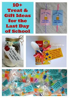 These are fantastic (and simple) ideas for the last day of school. Last Day Of School, School Days, Free Printable Gift Tags, Free Printables, Craft Tutorials, Diy Projects, Loot Bags, School Treats, Creative Thinking