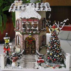 De Todo, Un Poco .: Tejas decoradas Christmas Clay, Christmas Town, Christmas Traditions, All Things Christmas, Christmas Crafts, Christmas Decorations, Holiday Decor, Tile Crafts, Paper Crafts