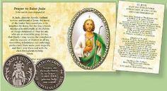 Pocket Token - Saint Jude Saint Jude, Special Words, Inexpensive Gift, Booklet, Catholic, Prayers, Prayer, Beans, Roman Catholic