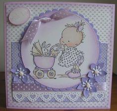 A simpler baby girl card
