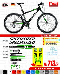 ba4274869 SPECIALIZED Sticker Bike Frame Autocollant Bicycle Mountain Sticker MTB BMX  The frame front fork specialized decals kit Graphics S works
