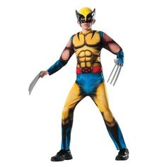 Rubies Costumes Boy's Marvel Deluxe Wolverine Kids Costume Medium (8-10) - 1 ea
