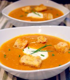 Curried Roasted Butternut Squash and Apple Soup - Too hot - Use only 1/3 to 1/2 the spice