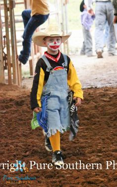 Future Rodeo Clown, Little blake is best rodeo clown at such a young age!! Rodeo photography, rodeo photography, mutton bustin www.puresouthernphotos.smugmug.com