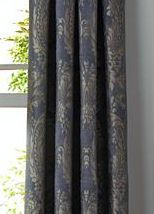 follow this link for Luxury Curtain Panel Brocade Damask French Cearra Black Bronze Gold | sharonna - Housewares on ArtFire