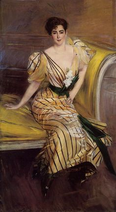 'Portrait of Madame Josephina Alvear de Errazuriz' - 1892 - by Giovanni Boldini - Private Collection