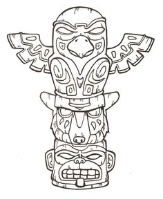 animal+totem+poles | Free Printable Totem Pole Coloring Pages For Kids