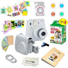 Fujifilm Instax Mini 9 (Flamingo Pink) Deluxe kit bundle Includes -Instant camera with Instax mini 9 instant films pack) - Custom Camera Case - instax Album – Frames - wall hang frames- - Stickers - Close up lens + MORE … Polaroid Instant Camera, Instax Camera, Instant Film Camera, Instax Mini 9, Fuji Instax, Fujifilm Instax Mini, Fujifilm Polaroid, Polaroid Cameras, Instax Accessories