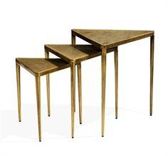 Jasmine Triangular Nesting Tables - Gold
