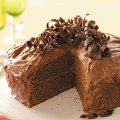 Lovelight Chocolate Cake Recipe from Taste of Home -- shared by Eilene Bogar of Minier, Illinois