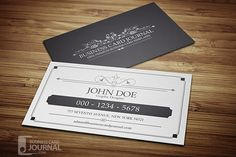 beautiful black and white vintage business card template available for free download as vector or