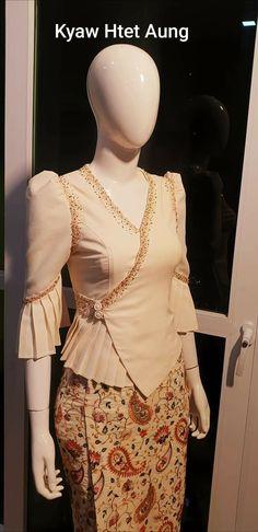 Kebaya Modern Dress, Kebaya Dress, Traditional Dresses Designs, Designs For Dresses, Batik Fashion, Fashion Sewing, Myanmar Dress Design, Myanmar Traditional Dress, Stylish Blouse Design