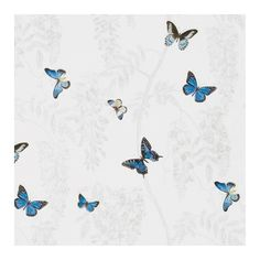 Sanderson Wisteria & Butterfly Linen Fabric ($76) ❤ liked on Polyvore featuring home, home improvement and fabric