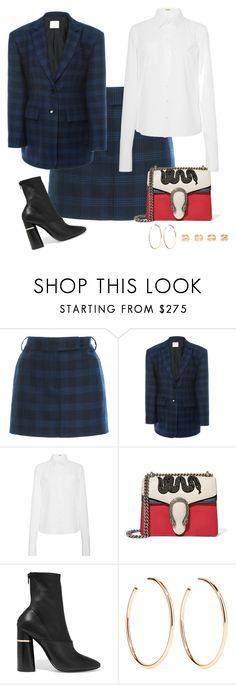 """Untitled #13879"" by bappple ❤ liked on Polyvore featuring TIBI, Michael Kors, Gucci, 3.1 Phillip Lim, Jennifer Fisher and Maison Margiela"