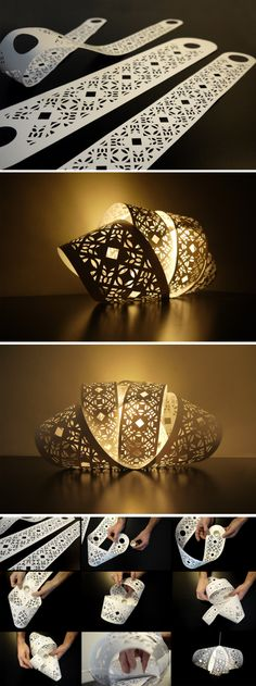 Patella Lamp Try with laser cut P P Laser Cut Lamps, Diy Accessoires, Digital Fabrication, 3d Prints, Light Project, Light Fittings, Laser Engraving, Laser Cutting, Lamp Light