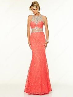 Tulle Lace Scoop Neck Sweep Train Trumpet/Mermaid Beading Ball Dresses -NZD$288.79