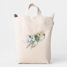 white watercolor summer chamomile duck bag Small Gift Bags, Small Gifts, Lilac Grey, Dandelion Flower, Seating Chart Wedding, Card Patterns, Small Flowers, Gift Tags, Reusable Tote Bags