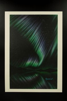 "Northern lights series "" print of the original painting. Signed by the author - limited edition available! Northern Lights, Painting, Etsy, Painting Art, Paintings, Nordic Lights, Aurora Borealis, Painted Canvas, Drawings"