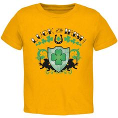 St. Patricks Day - Luck Of The Irish Gold Toddler T-Shirt