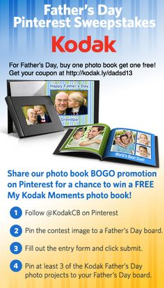 Pin for a chance to win a FREE My Kodak Moments photo book!  Enter here --> http://kodak.ly/12BnujO