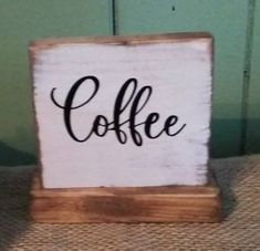 """Bless Our Home Engraved Wood Sign Shelf Sitter 8/"""" Tan Rustic"""