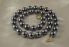 12 mm hematite beads look gorgeous with anything. Looking Gorgeous, Beadwork, I Am Awesome, My Design, Beaded Bracelets, Times, Beads, Jewelry, O Beads