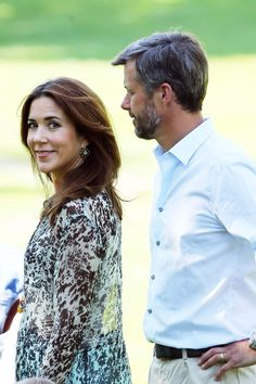 Crown Prince Frederik and Crown Princess Mary at the Danish royal family's annual summer photo shoot at Gråsten Palace, Thursday July 24th.