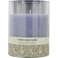 "LAVENDER & VANILLA ESSENTIAL BLEND by Lavender & Vanilla Essential Blend ONE 4.5 inch GLASS PILLAR ESSENTIAL BLENDS CANDLE. BURNS APPROX. 70 HRS. (""206759"")"