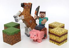 Steve can saddle up with speed from our #Minecraft Overworld 3-Inch Figure Set Saddle Pack. Still available in stores near you and online!