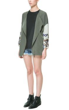 Image 1 of KIMONO WITH ZIP AND DRAGON SLEEVES from Zara