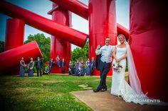 Laumiere Sculpture Park. Kerrie and Patrick wedding photos, Saint Louis, 2012. Photo by eloquentmoments.com