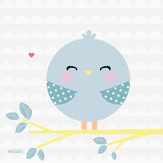 Fondo <3 Image Deco, Baby Posters, Bird Party, Cute Images, Baby Decor, Cute Illustration, Nursery Wall Art, Baby Quilts, Cute Wallpapers