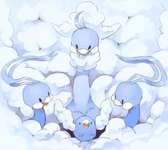 I feel like there would be some folk stories about Altaria and Swablu in the Pokemon world Pokemon Team, Pokemon Eevee, Pokemon Fan Art, All Pokemon, Pikachu, Fanart Pokemon, Pokemon Stuff, Pokemon Images, Pokemon Pictures