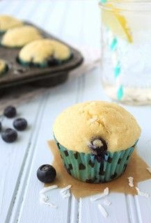 Coconut Oil Blueberry Muffins | Spoonful of Flour