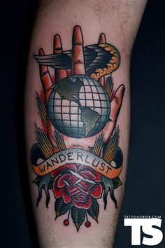 Wanderlust by Grez at Kings Avenue Tattoo is Massapequa, NY