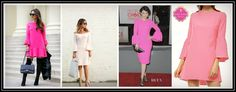 Becca Bell Sleeve Dress in Pink